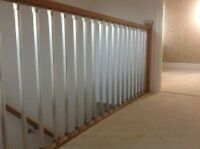 SOLUTIONS LANDING KIT CHROME OR BRUSHED NICKEL SPINDLES WITH PINE OR OAK RAILS