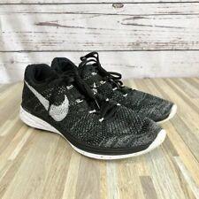 """Nike Men's Flyknit Racer 2.0 """"Oreo"""" Black/White Running Sneakers Size 11.5"""