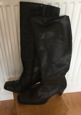BLACK HIGH HEEL BOOTS SIZE 4