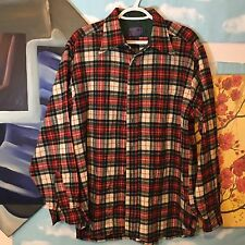 Vintage Red Pendleton Wool Shirt Men's XL