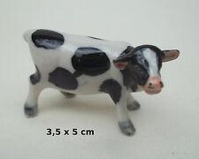 vachette en céramique, miniature de collection, koe, kow, bébé vache, B1-18