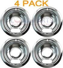 """4 Pack Whirlpool Stove Range Cooktop 6"""" Burner Chrome Drip Pan Bowl 4212244"""