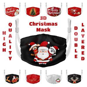 Christmas 3D Reusable Face Mask Washable Unisex Adult UK Cotton Mouth Protection