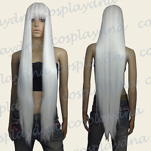 40 inch Hi_Temp Series White Face frame Long Cosplay DNA Wigs VL101