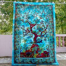 Tree Of Life Indian Twin Bedspreads Hippie Bohemian wall Hanging Dorm Tapestries