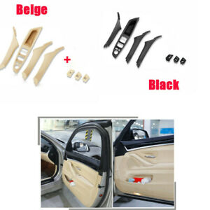 7PCS Door Handle Window Lift Switch Button Frame Panel For BMW F10 F11 F18