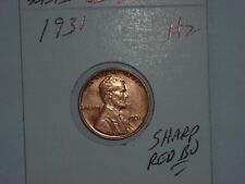 wheat penny 1931 NICE RED BU 1931-P SEMI-KEY LINCOLN CENT LOT #2 RED UNC LUSTER