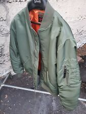 Schott NYC Commemorative MA-1 Nylon USA-Flight Jacket Sage Size Large New/w/TAGS