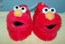 ELMO 123 SESAME STREET SOCK TOP HOUSE SLIPPERS/SHOES YOUTH 11-12 XL