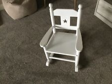 White Wooden Childs Rocking Chair