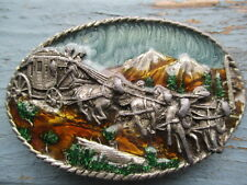 Stagecoach collectible belt buckle By Siskiyou buckle Co I-27  1983