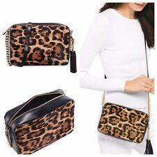 357d7999e56f NWT MICHAEL KORS Medium Ginny Leopard Print Calf Hair Crossbody Bag  248