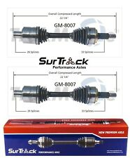 For Chevy Astro GMC Safari AWD 97-02 Pair Set of 2 Front CV Axle Shafts SurTrack