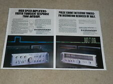 Kenwood 1977 2 page Ad, KA-907 Amplifier, KT-917 Tuner, Articles, Info