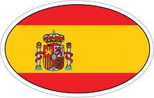 España / pabellón español en un óvalo pegatina de vinilo-parachoques del coche / Bandera - 16cm X 9 Cm