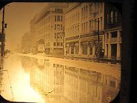 ANTIQUE VICTORIAN OR EDWARDIAN HOUSTON TX DOWNTOWN OLD MAGIC LANTERN SLIDE PHOTO