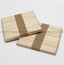 "100 pcs WOODEN POPSICLE STICKS 4-1/2 x 3/8"" Wood Craft Stick School Art C07"