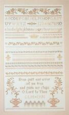 ALPHABET and BANDS SAMPLER Cross Stitch Leaflet