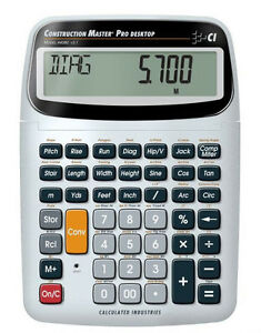 Calculated Industries Construction Master Pro Desktop Calculator 44080