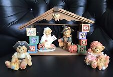 Cherished Teddies Gretel, Stacie, Taylor, Carrie and Beary Scary Halloween House
