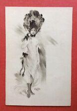 CPA. Illustrateur Léon DAX. Jeune Femme. Grand Chapeau. Coquin. Années 1900.