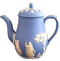 WEDGWOOD BLUE JASPER COFFEE/TEA POT MADE IN ENGLAND