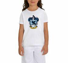 Harry Potter Ravenclaw Raven Crest Children's Unisex White T-Shirt