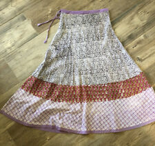 47. Roberta Roller Rabbit Hand Dyed Maxi Skirt Small Ethnic