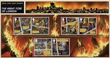 GB 2016 Gran Incendio de Londres presentación Pack Nº 531 sello de menta conjunto SG 3879 -84