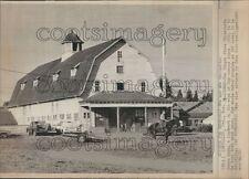 1970 Horse Barn Oregon State University Press Photo