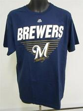 NEW MILWAUKEE BREWERS ADULT MENS LARGE L Shirt by MAJESTIC