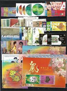 China Hong Kong 2020 全年 年票 Whole Year of RAT Full stamp + Gold + Bruce Lee Storm