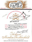 SALVADOR DALI. Signed 1958 mint label for his CHTEAU MOUTON ROTHSCHILD artwork