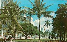 Bay Front Park Biscayne Blvd. Miami Florida 1960's Postcard