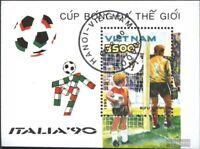 Vietnam Block76 (kompl.Ausg.) gestempelt 1990 Fußballweltmeisterschaft, Italien