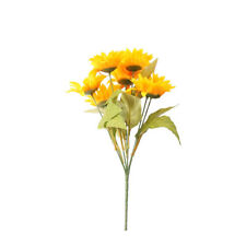 Sunflower Bush Artificial Flower 7 Heads 35cm Yellow