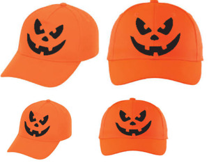 Pumpkin Hat BaseBall Cap Halloween Costume Fancy Dress Horror Mask Funny FACE