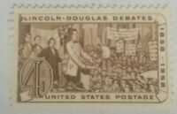 Lincoln-Douglas Debates 1858-1958 Theme 4 Cent US Postage Stamp / Single / MNH