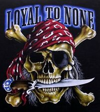 LOYAL TO NONE PIRATE SKULL AND CROSSED BONES KNIFE EYE PATCH SWEATSHIRT WS31