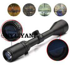 Illuminated 3-9x50EG Red/Green/Blue Reticle Rifle Scope W/2 Mounts For Hunting