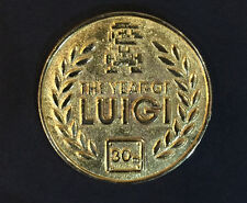 Super Mario Club Nintendo Luigi 30th Year Anniversary Gold Coin Token UK
