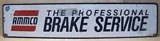 Old Ammco Professional Brake Service Sign metal lathe repair shop advertising