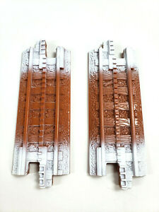 """GeoTrax Christmas Toytown Railway 2-Brown White 6"""" Replacement Tracks 2010_G14"""