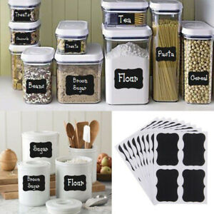 100Pcs Chalkboard Labels - Chalk Board Kitchen Craft Jar Stickers Decor Labels