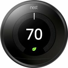 Black: Nest 3rd Generation Learning Programmable Thermostat w/Base: T3016US