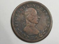 Lower Canada No Date (1811-1813) ½ Penny Bank Token. Victoria Nobis Est. LC-49a.