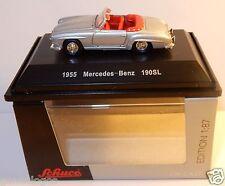 MICRO METAL DIE CAST SCHUCO HO 1/87 MERCEDES-BENZ 190 SL CABRIOLET 1955 GRIS BOX