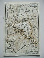stampa antica MAPPA PIANTA CARTA TOPOGRAFICA LAZIO ROMA ISOLA FARNESE VEIO  1938