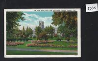 COLORADO / Vintage Linen postcard / Unused / West High School in Denver CO