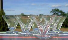 Vallerysthal - Service de 6 coupes à champagne en verre taillé.  Haut. 8,5 cm